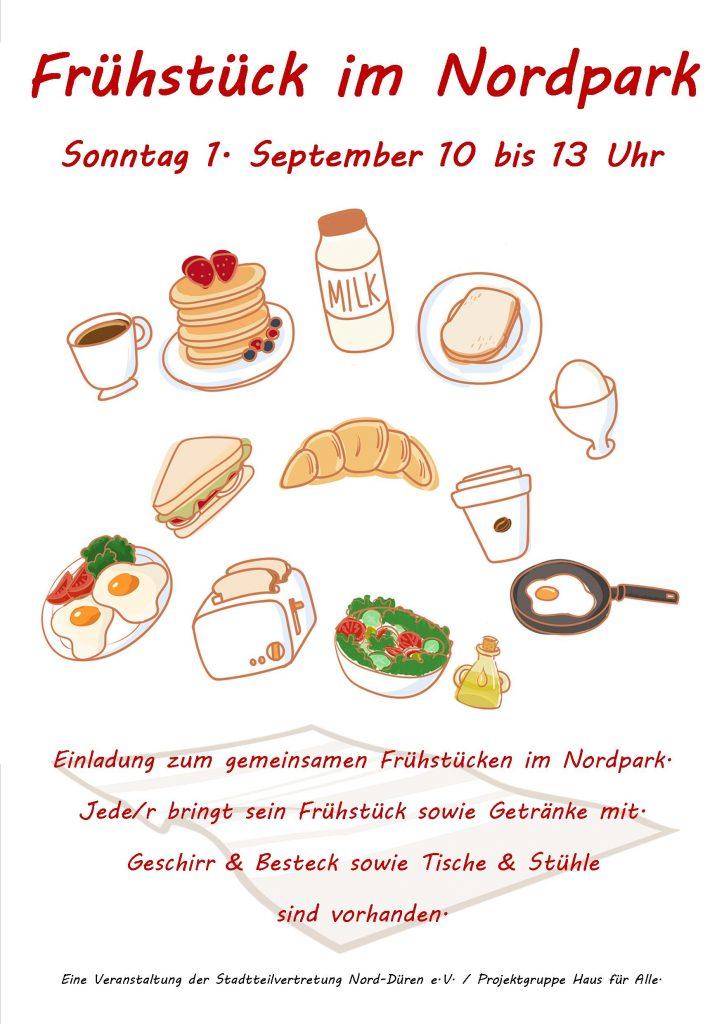 Frühstück im Nordpark Plakat 01.09.2019