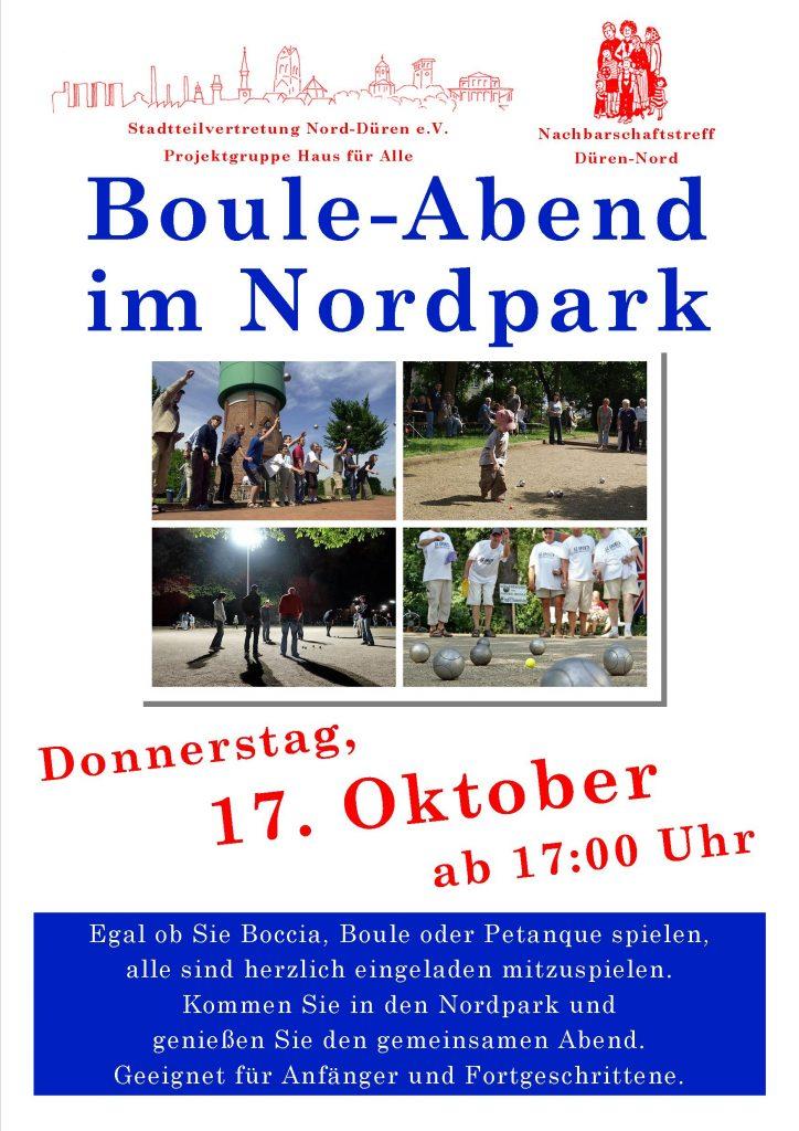 Plakat Boule 17.102019
