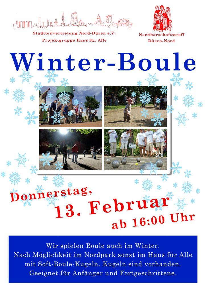Plakat Boule 13.02.2020